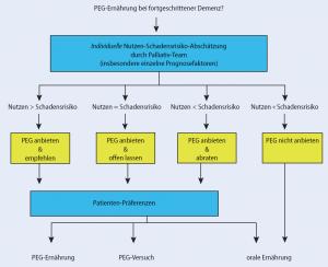 Abbildung 4: Entscheidungsmodell zur Evaluation einer PEG-Ernährung bei fortgeschrittener Demenz (Synofzik 2007)