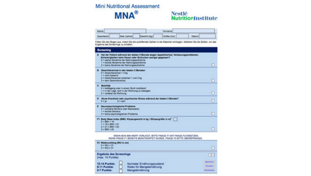 Screening Mangelernährung MNA-SF