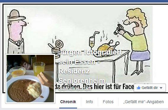 Facebookseite Jürgen fotografiert sein Essen
