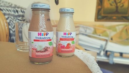 Trinknahrung von HIPP mit natürlichen Lebensmitteln