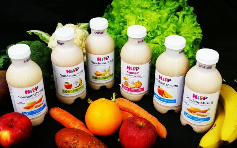 HiPP Sondennahrung in verschiedenen Geschmacksrichtungen